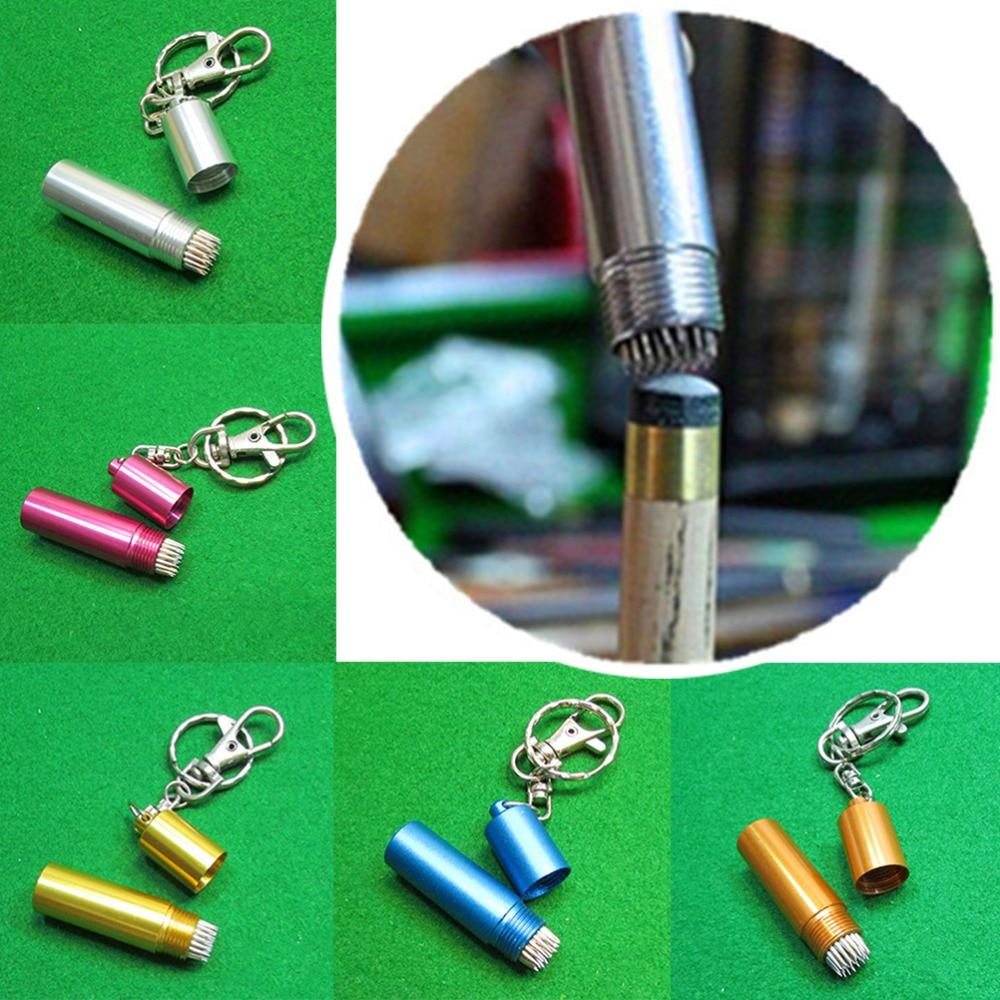 Snooker Prep Pool Table Cue Tip Shaper Repair Keychain Bag Hanging Accessories