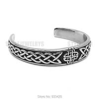 Classic Celtic Knot Bracelet Stainless Steel Jewelry Claddagh Style Silver Motor Biker Women Men Bangle Wholesale
