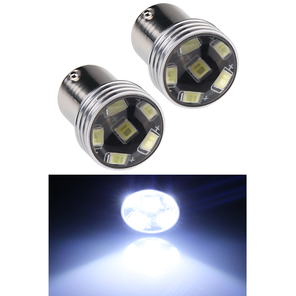 2PCS 1156 6 LED Light  White 1156 P21W 6 LED 2835 SMD Car Auto Light Source Backup Reverse Parking Lamp Bulb DC12V 1pcs high quality 1156 ba15s p21w 15 smd 2835 canbus led car auto indicator turn side light parking bulb lamp dc 12v