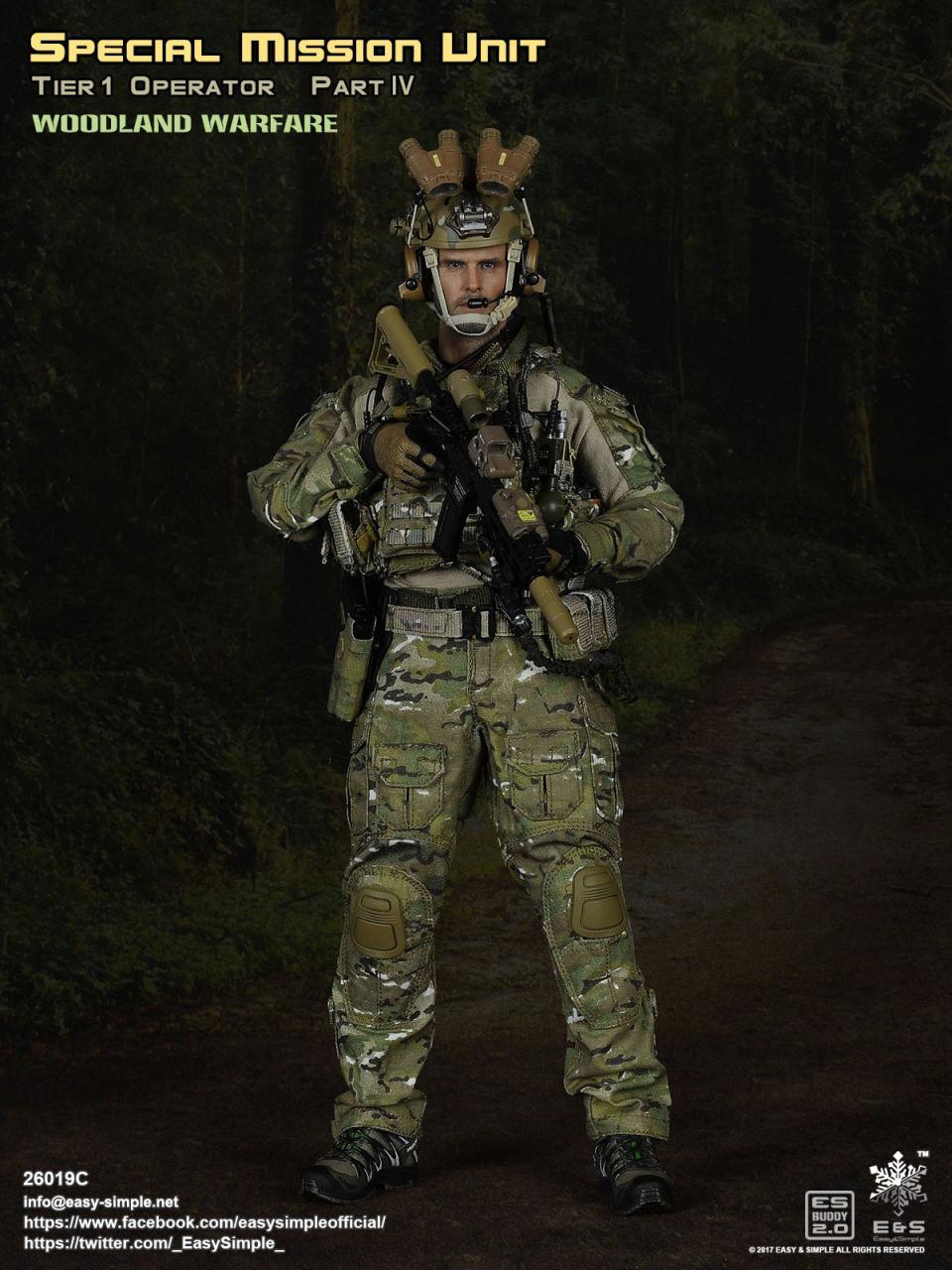 1//6 Scale Toy Urban Warfare SMU Tier 1 Operator Male Headsculpt