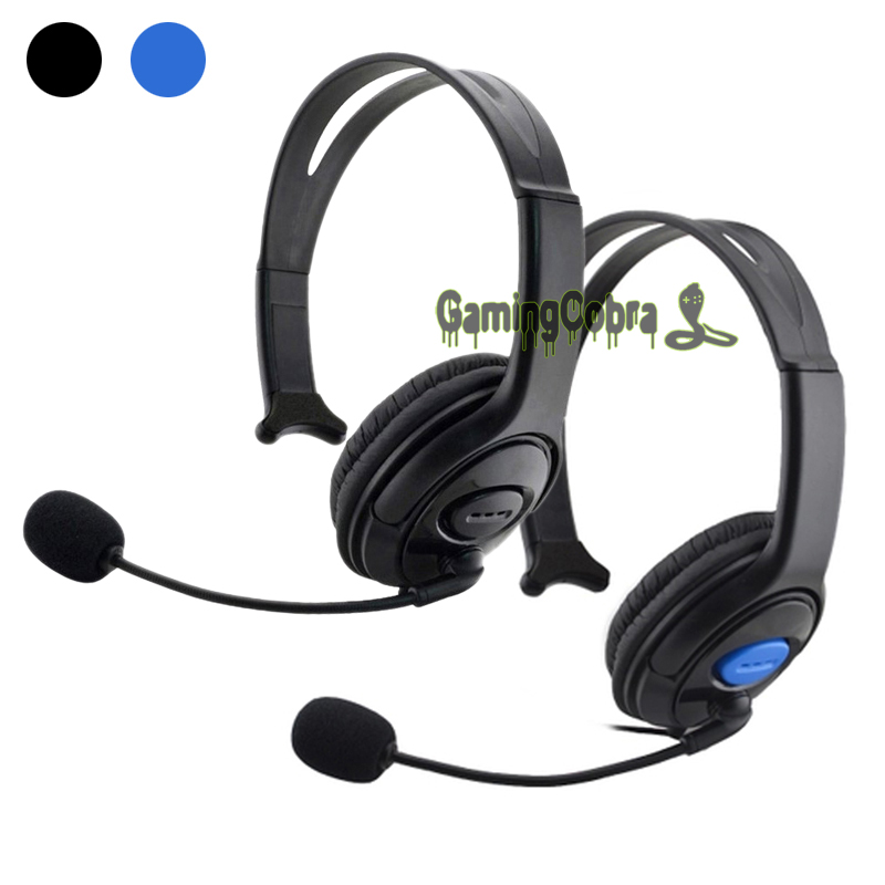 3.5mm Plug Unilateral Stereo Headphone Gaming Headset Earphone With Mic for PS4