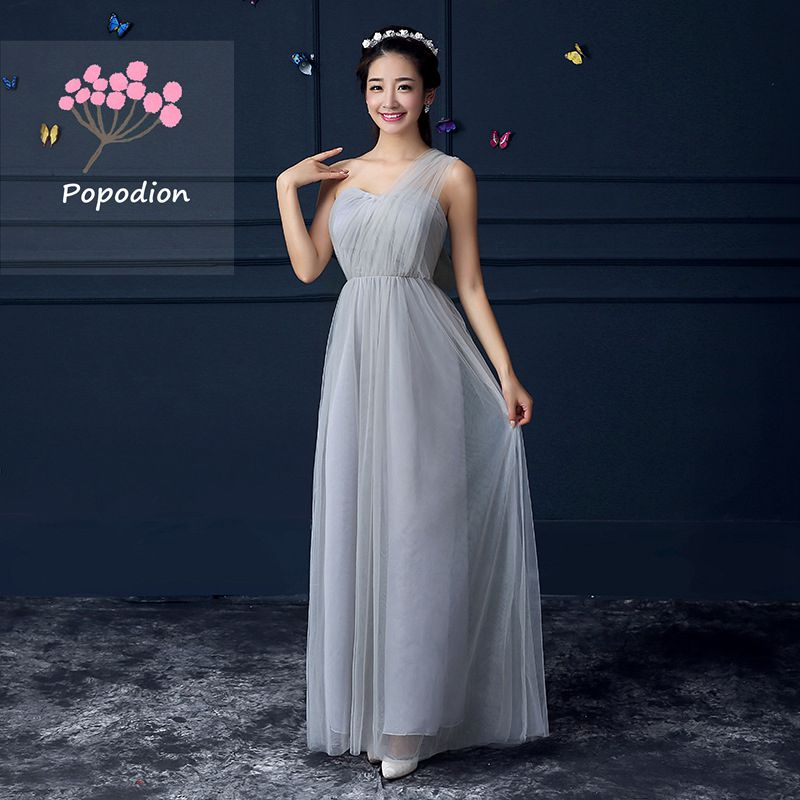 Summer Purple Prom Dresses Long Style Bridesmaid Dresses Sister Dress ROM80051