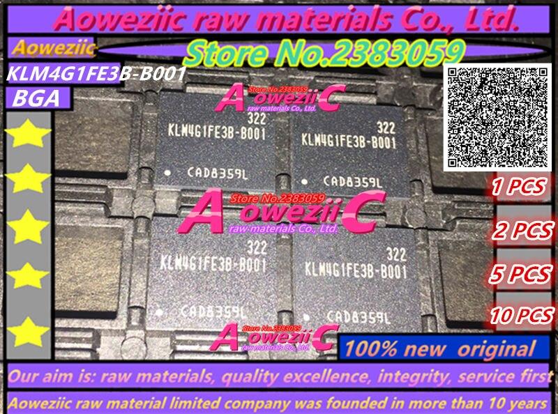 Aoweziic 100% new original KLM4G1FE3B-B001 BGA 4G Memory chip KLM4G1FE3B B001