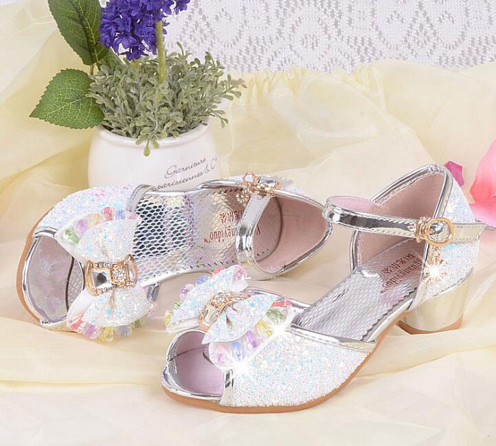 Nieuwe zomer meisjes prinses sandalen kinderschoenen kinderen meisjes - Kinderschoenen - Foto 4