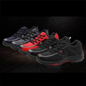 Image 5 - أحذية عمل واقية العمل التأمين الأحذية الذكور تنفس مزيل العرق مقدمة حذاء من المعدن مكافحة تحطيم مكافحة ثقب موقع الأحذية