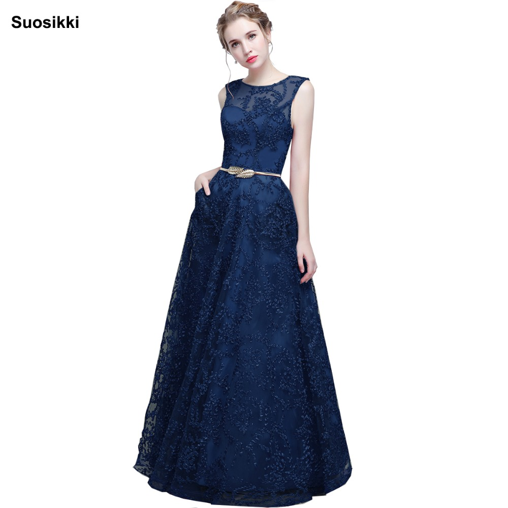 Elegant   Evening     Dress   Long 2019 Appliques Banquet Party   Dress   Stunning Satin Prom   Dresses   Robe De Soiree vestido de festa