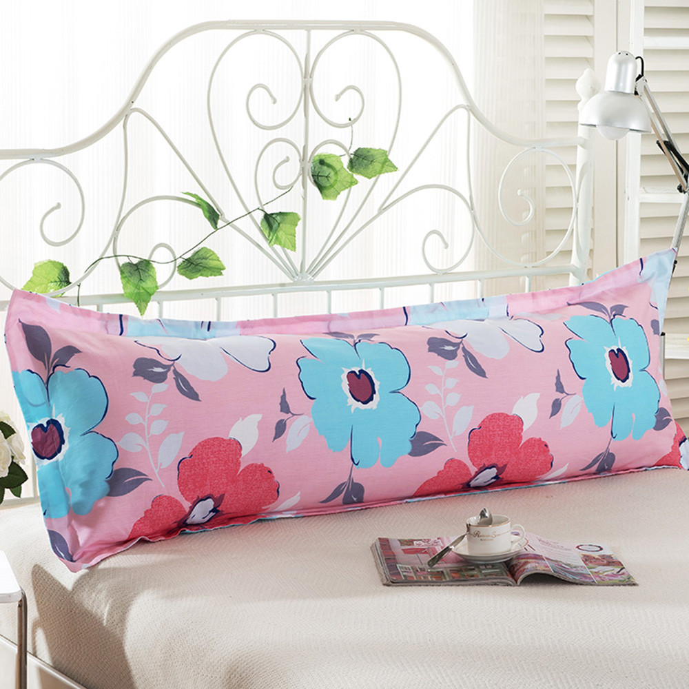 Seat Cushion Comfy Home Sofa Print Long Body Double Pillow
