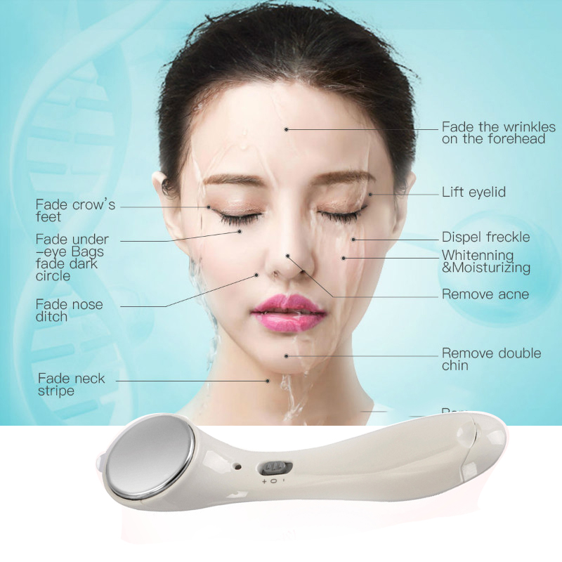 Woman Anti-wrinkle Ionic Face Massager Beauty Face Instrument Skin Tightening Essence Absorb Ion Lifting Firming Face Care Tools