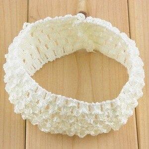 Image 5 - Nishine 200pcs/lot 1.5 Inch Stretchy Waffle Crochet Headbands DIY Elastic Girls Hairbands Hair Accessories