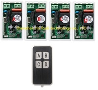 AC220V 1CH 10A RF Wireless Remote Control Switch System 433 MHZ 1 transmitter & 4 receiver relay Receiver Smart Home Switch