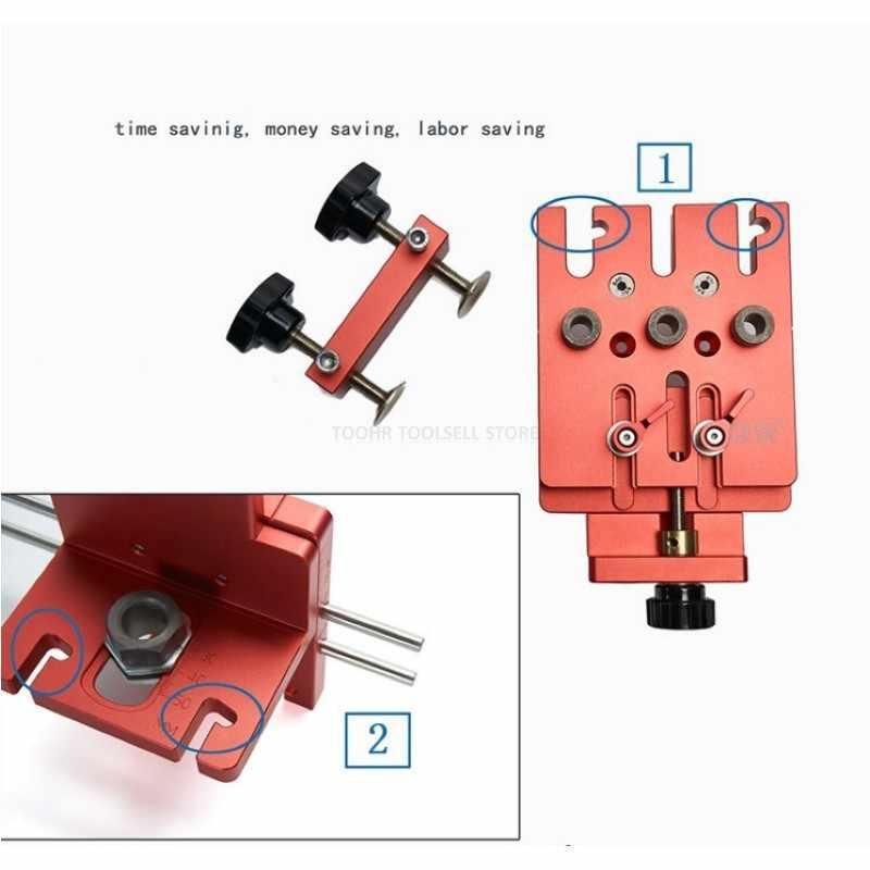 Perceuse de trous pour menuiserie, gabarit de localisation du Guide de positionnement Kit du système de menuiserie outil de bricolage en alliage d'aluminium