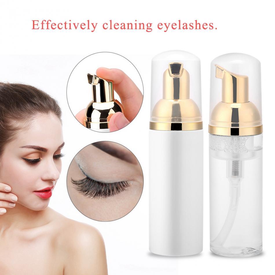 60 ml Profissionais Eye Lashes Espuma de Limpeza Limpador Shampoo Detergente Removedor de Maquiagem Cílios Extensão Dos Cílios Individuais