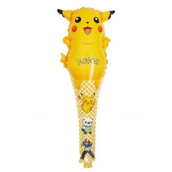 10 unids/lote globos pokemon globos de papel de aluminio juguetes inflables Pikachu helio globo para niños juguetes de fiesta de globos suministros