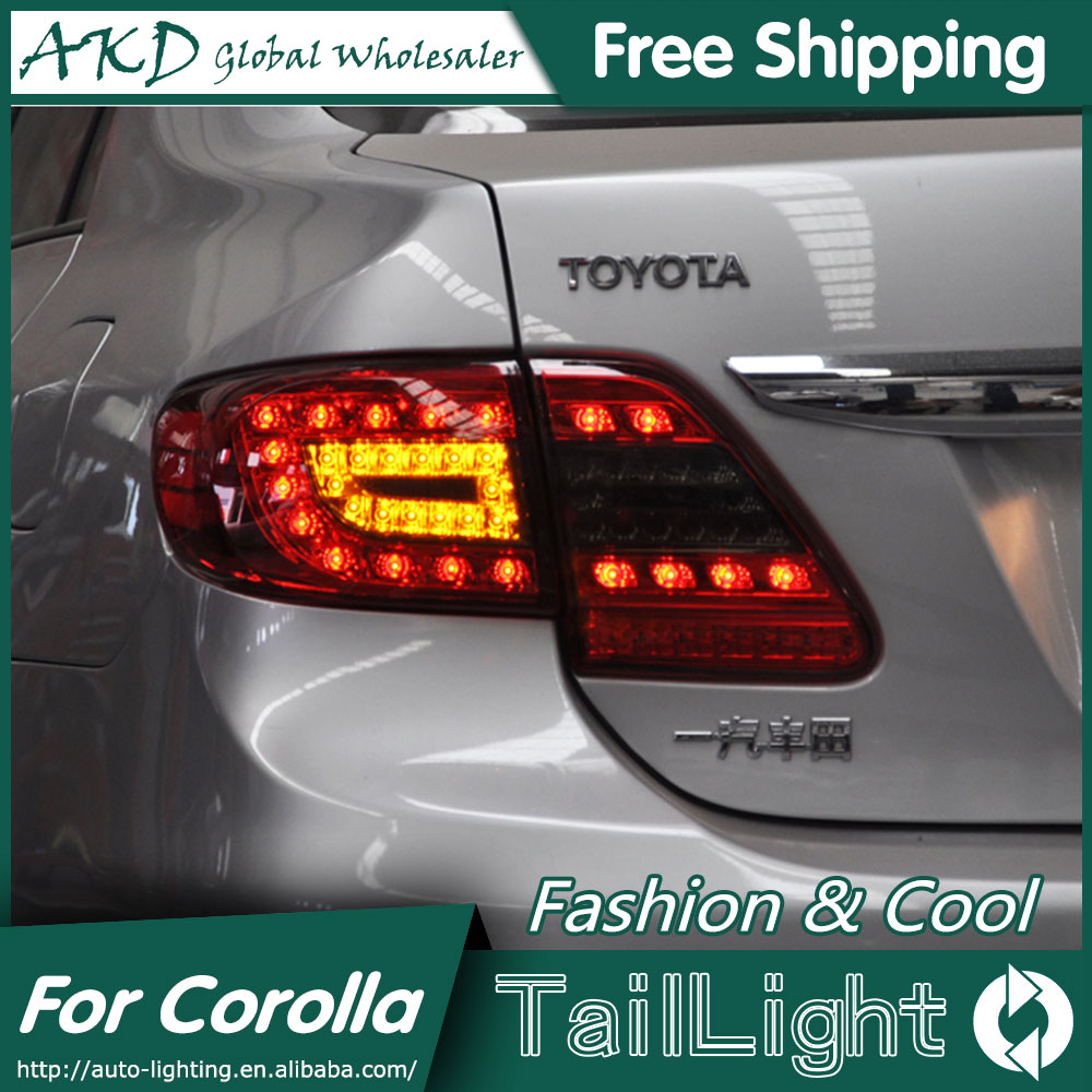 Akd car styling for toyota corolla tail lights 2011 2013 corolla led tail light altis