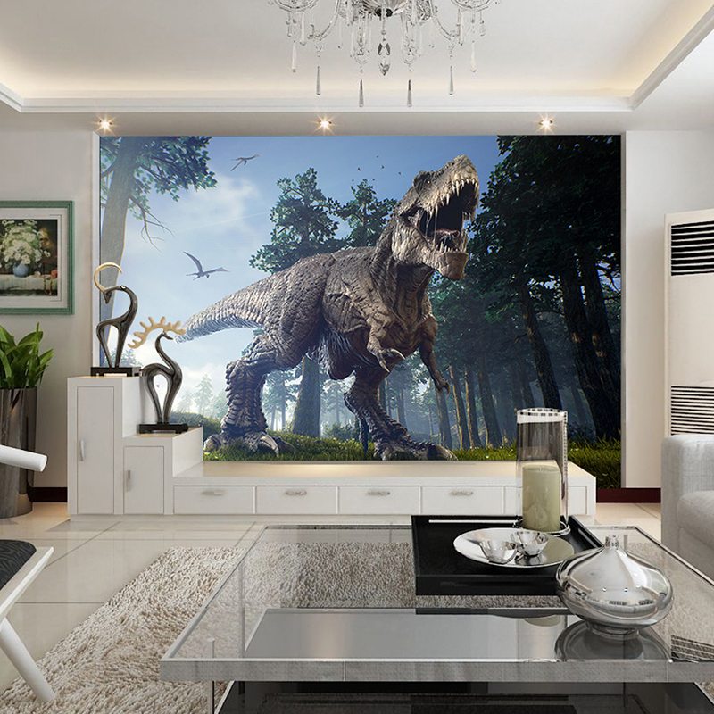 Custom Photo Wall Paper Dinosaurs Painting Mural Wallpapers Bedroom Ktv Bar Backdrop Murals Wallpaper Home Decor In From