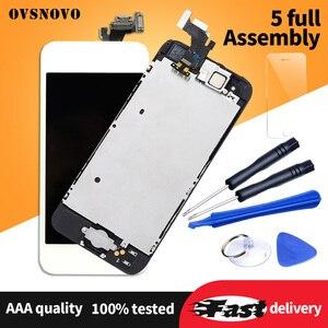 Image 2 - Aaa assembléia completa display para iphone 5 5c 5S se lcd tela de toque digitador substituição pantalla + botão casa câmera frontal