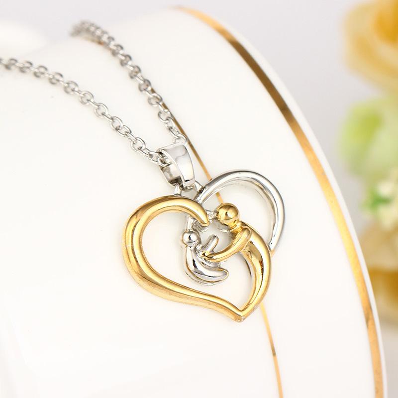 Mother's Day Exquisite Two Color Group Combine Peach Mother And Son Accessories Necklace Goods In Stock GUC577 erd jewelry colar