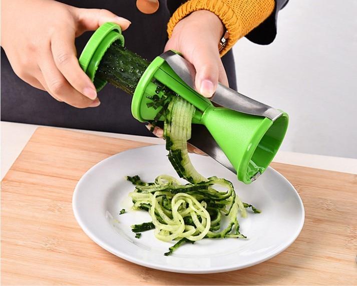 1PC New Vegetable Fruit Spiral Slicer Spirelli Graters Carrots Spiralizer  Julienne Cutter Peeler Kitchen Gadgets KX