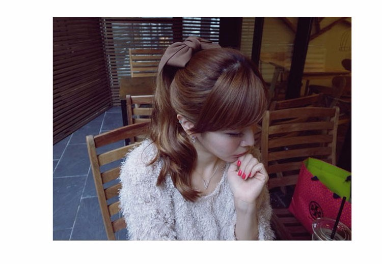 HTB1l4pdOVXXXXbDXXXXq6xXFXXX8 Pretty Solid Cloth Big Bow Hair Clip For Women - 7 Colors
