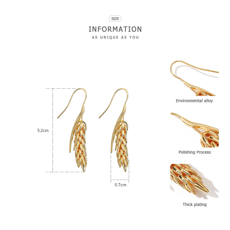 Image 5 - ZEGL Metal Earrings Earrings Earrings Pendant Earrings Women Earrings Leaf Earrings-in Drop Earrings from Jewelry & Accessories