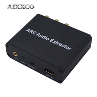 AIXXCO ARC Audio Adapter HDMI Audio Extractor Digital to Analog Audio Converter DAC SPDIF Coaxial RCA 3.5mm Jack Output