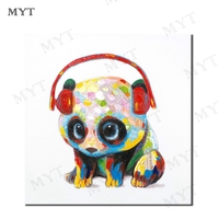 MYT Free Shipping Modern Orange Abstract Oil Painting Artist Hand painted High Quality Panda Animal Oil Painting for Room