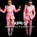 S-4XL! 2016 Новый мужской Bigbang DJ розовый кукла шаблон костюм пиджак Костюм плюс размер певица костюмы одежда вечернее платье