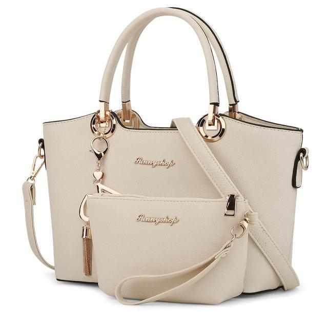 2 Bags/set 2017 Fashion Women Leather Handbag Women Messenger Bags Crossbody Bags High Quality Famous Designer Brand Ladies Bags