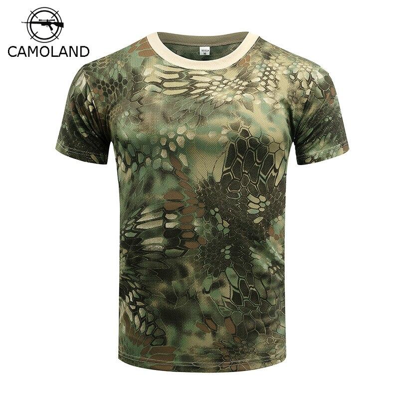 CAMOLAND T-shirt Mens Compression T Shirt Fitness Summer