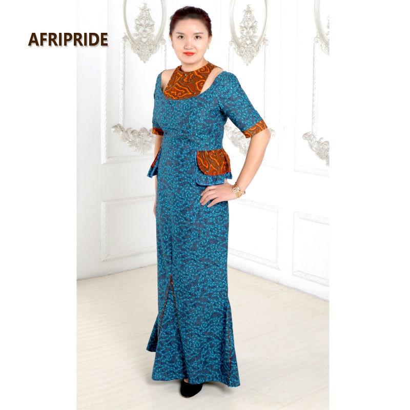 2019 Afrique robes pour femmes classique style élégant coton - Vêtements nationaux - Photo 3