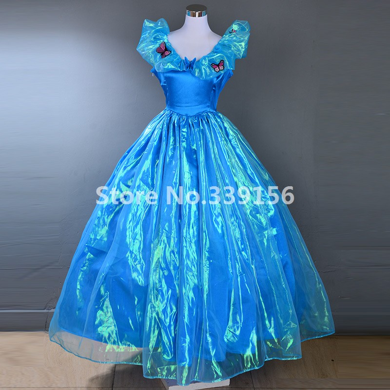 Snow White Blue Dress Movie Gowns Princess Masquerade Gown