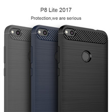 Luxury Soft Carbon Silicon Cases for Huawei P8 P9 P10 lite Honor5C Honor8 Nova P8lite2017