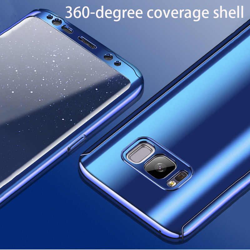 Защитная крышка 360 градусов, чехол для смартфона samsung galaxy s7 s8 s9 A5 A7 plus note 8 edge G950F 2018 чехол-сумка