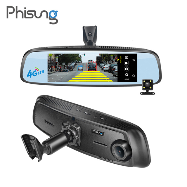 "Phisung 7.84"" Dual Lens Rearview Mirror Car DVR Camera Full HD 1080P WiFi Android GPS Navigator Dash Cam Parking Video Recorder"