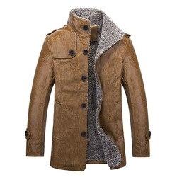Winter leather jacket men fashion warm windbreak outwear plus velvet business casual mens leather jacket and.jpg 250x250