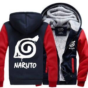 Image 4 - ชายอะนิเมะNaruto Uzumaki Naruto 2019 ฤดูใบไม้ผลิฤดูหนาวขนแกะซิปhoodiesแฟชั่นกีฬาHarajuku tracksuits kpop