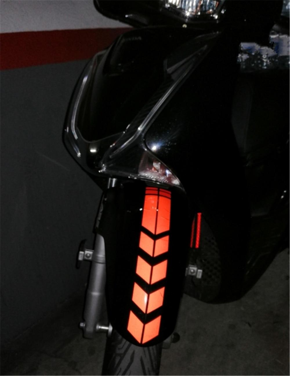 Bentuk Sepeda Motor Stiker Reflektif Roda Fender Stiker Dekorasi untuk Kawasaki Ninja 650R ER6F ER6N Versys (650cc) GTR1400