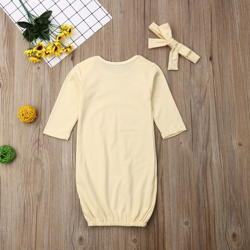 Baby Sleeping Blanket+Hair Band Printing Cotton Cloth Cover for Newborn