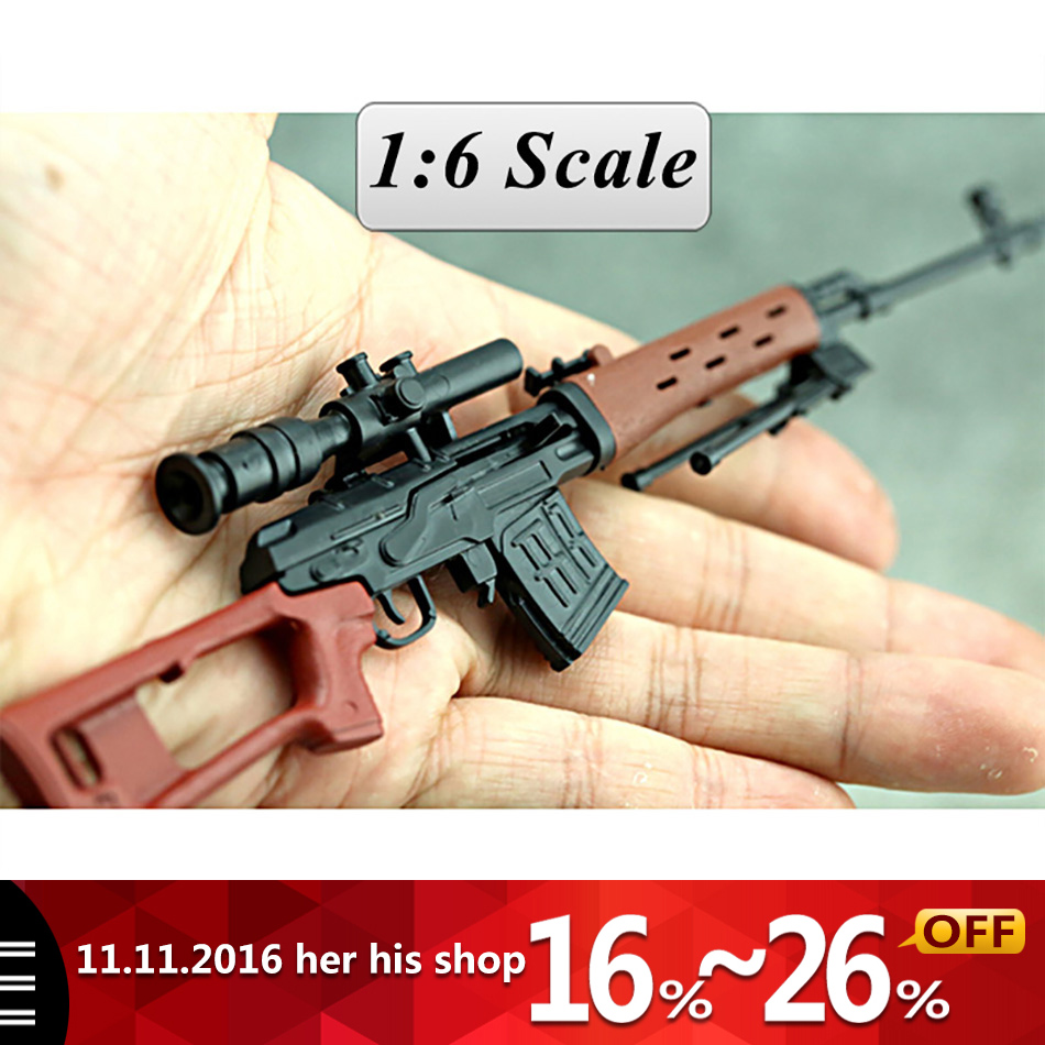 SVD Sniper Rifle Weapon Gun For 1/6 Scale12 Action Figure 1:6 Model Toy for 1/100 Gundam Can Use Free shipping Christmas gifi for audi a4 2004 number plate light white led bulb c5w 39mm 3 led canbus error free