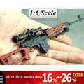 "SVD Sniper Rifle Weapon Gun For 1/6 Scale12"" Action Figure 1:6 Model Toy for 1/100 Gundam Can Use Free shipping Christmas gifi"