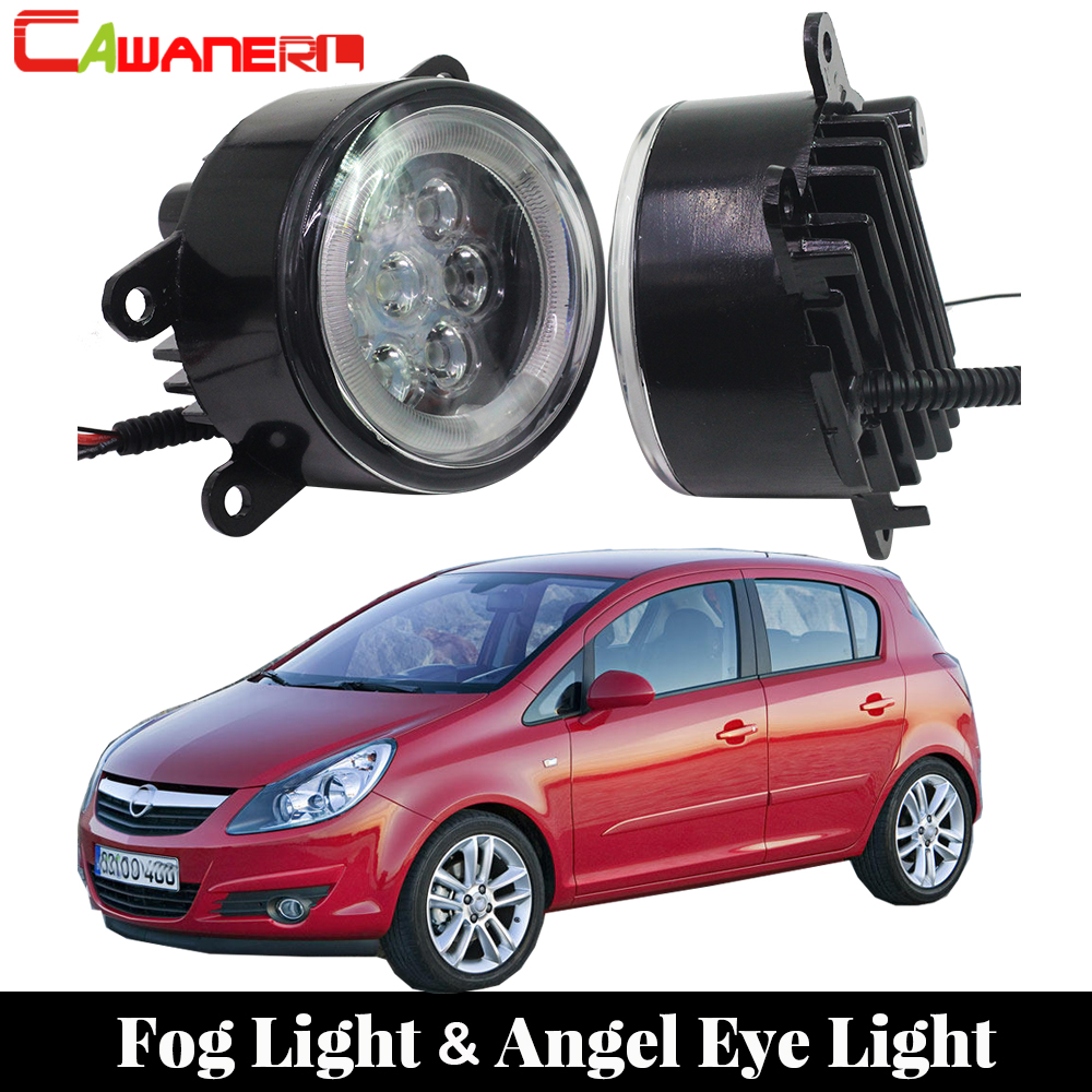Cawanerl For 2007-2015 Opel Corsa D Hatchback Car Accessories LED Bulb Fog Light Angel Eye Daytime Running Light DRL 2 Pieces цена
