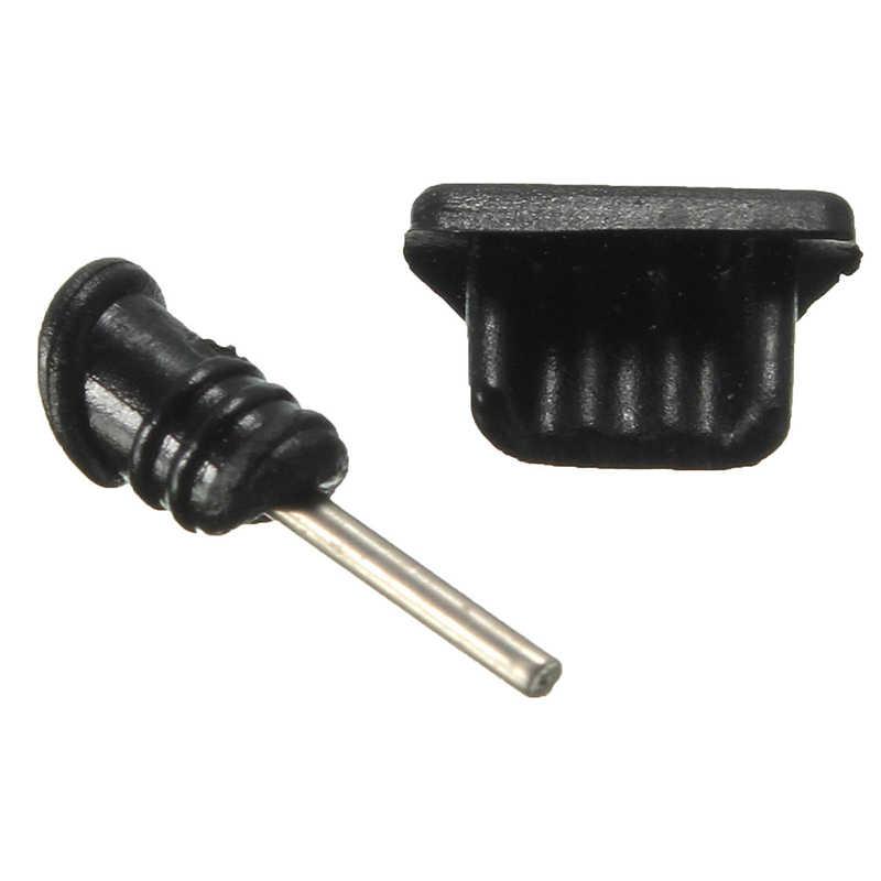 10 комплектов пылезащитные заглушки 3,5 мм разъем для наушников + микро USB разъем для зарядки для мобильного телефона samsung iPhone 5 5S 6 6 S
