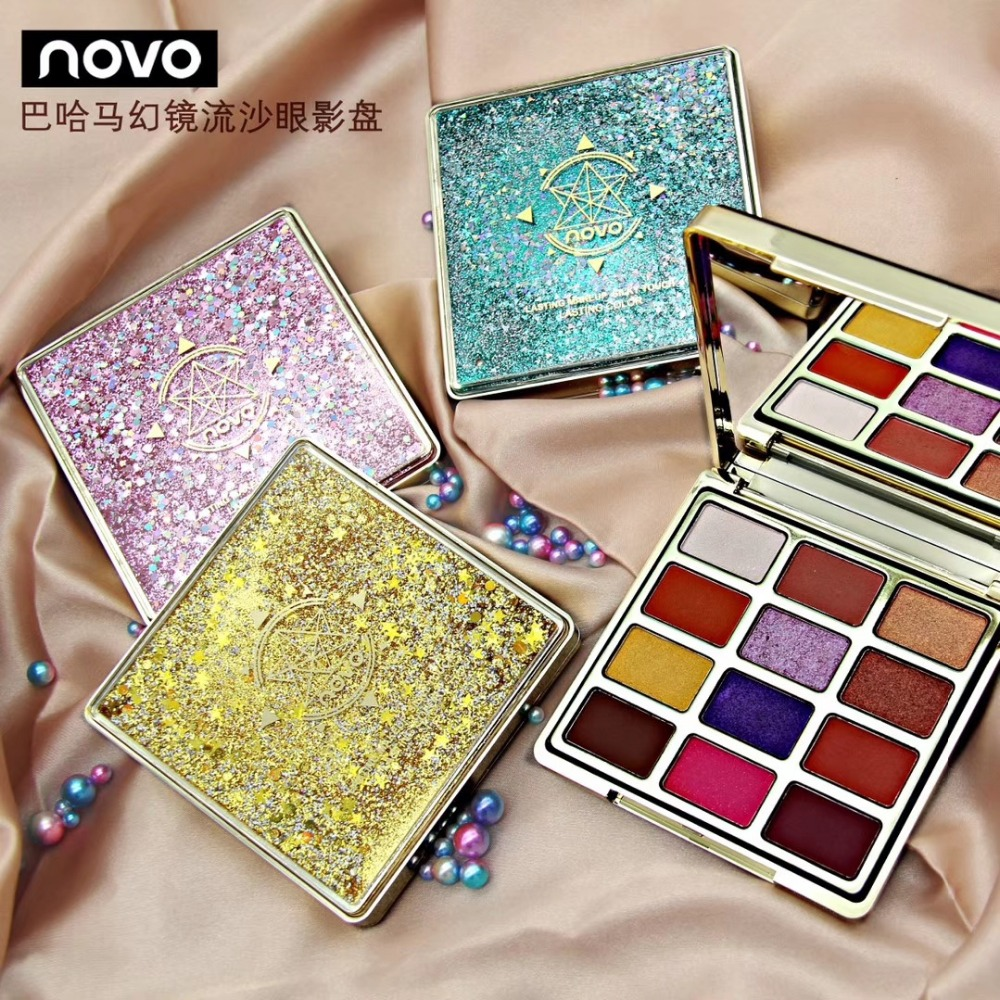 NEW Sand Shadow 12 Colors Shimmer Glitter Eye Shadow Palette Shadow Bare Makeup Nude Korea Cosmetics Makeup NOVO Brand the mountain shadow
