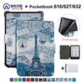 Тонкий чехол для Pocketbook 616/627/632 Ereader защитный чехол для Pocketbook Basic Lux 2/touch Lux/touch HD 3 + подарок