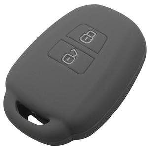 Image 3 - jingyuqin Remote Key Case Fob Shell Cover For Toyota Aqua Ractis Vitz RAV4 HiAce Land Cruiser Skin Holder 2 Button 2010 2019