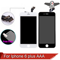 Calidad aaa sin píxeles muertos 5.5 lcd para iphone 6 plus pantalla táctil con el montaje del digitizador del tacto negro blanco