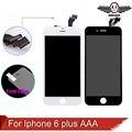 Qualidade aaa nenhum pixel morto 5.5 lcd para iphone 6 plus tela sensível ao toque com a montagem de toque digitador preto e branco