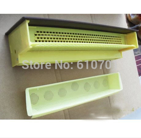 Yellow BeeHive Plastic Pollen Trap/Collector with Tray Entrance kit hook ups counter attack