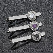 Copper Alloy Trendy Tie Clip High Quality Rhinestone Gift for Men