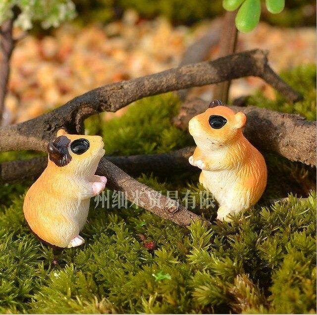 Holzhaus Fee Garten Eichhörnchen Miniatur Handwerk Micro